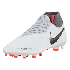 Nike Phantom Vision Pro DF FG Firm Ground Soccer Cleat – Pure Platinum/Black/Light Crimson/Dark Grey